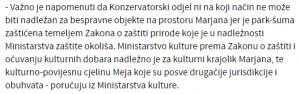 Očitovanje Ministarstva kulture