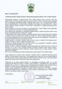 24.11.14. Priopćenje - Akcija Čist i uređen Marjan