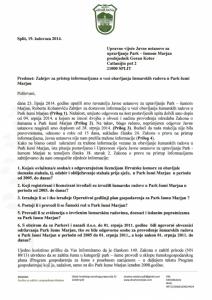 19.08.14. Zahtjev za pristup informacijama - UV - Obavljanje šumarskih radova 1
